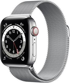 Išmanusis laikrodis Apple Watch Series 6 GPS LTE + Cellular, 40mm Stainless Steel Silver Milanese Loop, sidabro