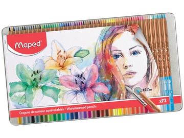 Цветные карандаши Maped Watercolor, 72 шт.