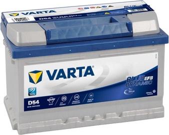 Аккумулятор Varta Blue Dynamic EFB D54, 12 В, 65 Ач, 650 а