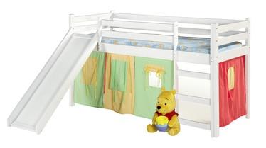 Dviaukštė lova Halmar Neo Plus White, 197x89 cm