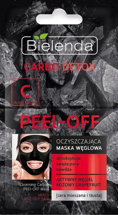 Bielenda Carbo Detox Charcoal Peel-off Mask 2 X 6g