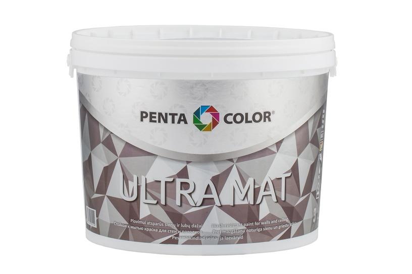 Dispersijas krāsa Pentacolor Ultra Mat, 3 l, balta