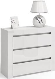 Komoda Top E Shop Deko 3 D3 Gloss White, 80x40x79 cm