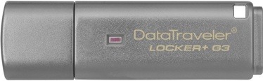 USB atmintinė Kingston DataTraveler Locker+ G3, USB 3.0, 32 GB
