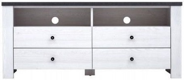 Black Red White TV Cabinet Antwerpen White