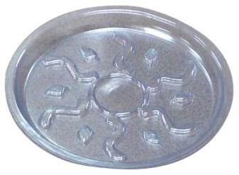 Lillepoti alus, plastik, läbipaistev, D 15 cm