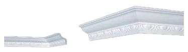 Lubų apdailos juostelės B-8, balta, 200 x 5.7 cm