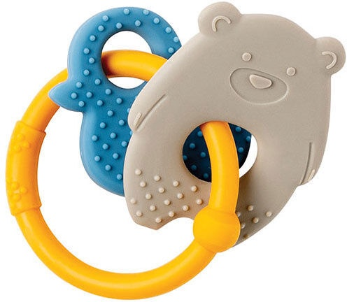 Nattou Teething Toy Bear & Duck Beige/Yellow