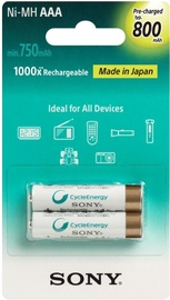 Sony Cycle Energy Premium AAA 800mAh NH-AAAB2KN