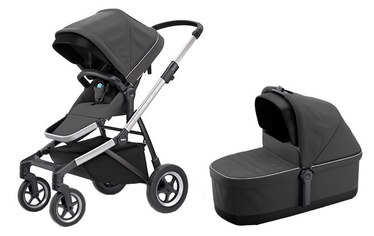 Thule Sleek with Bassinet and Main Seat Shadow Gray