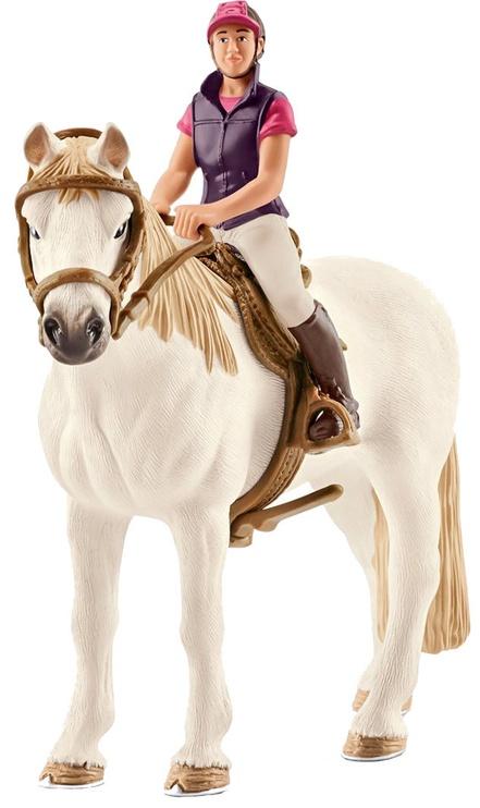 Schleich Recreational Rider With Horse 42359