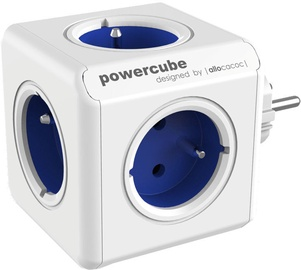 Allocacoc PowerCube Original Power Extension White/Blue
