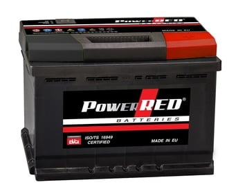 Akumuliatorius Power Red LB2, 55 Ah, 480 A, 12 V