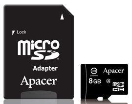 Apacer 8GB Micro SDHC Class4