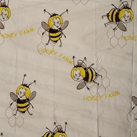 Vonios užuolaida Gedy Honey Farm, 180 x 200 cm
