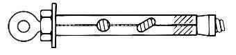 Enkurskrūve ar cilpu, 8 x 45 mm, 5 gab.