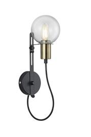 Sienas lampa Nacho melna, E14