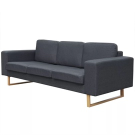 Диван VLX 3-Seater 243187, темно-серый, 82 x 200 x 76 см