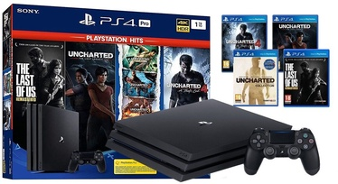 Sony PlayStation 4 (PS4) Pro 1TB Black + Naughty Dog Bundle