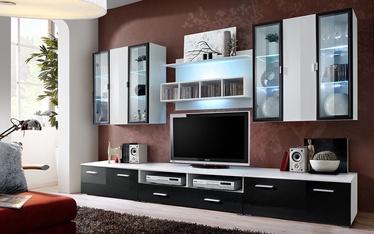 ASM Quadro Living Room Wall Unit Set White/Black