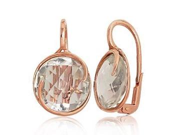 Diamond Sky 14K Red Gold Amethyst Earrings Amethyst Greatness XVI Solid Gold 585