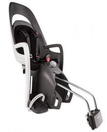 Vaikiška dviračio kėdutė Hamax Caress With Lockable Bracket 553001, balta/pilka, galinė
