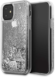 Guess Glitter Hearts Back Case For Apple iPhone 11 Silver