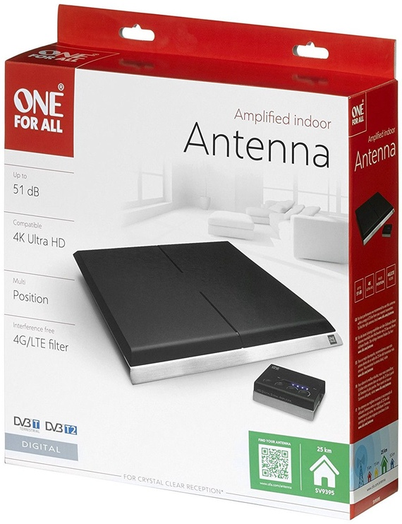 One For All Amplified Indoor Antenna SV9395