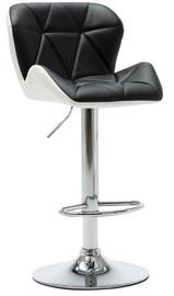Bāra krēsls VLX Bar Stool 249670, balta/melna