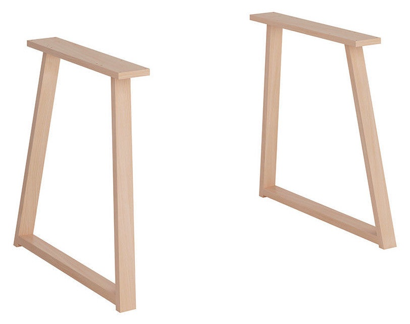 Black Red White Vario Modern Wooden Trapezium Legs Natural Oak