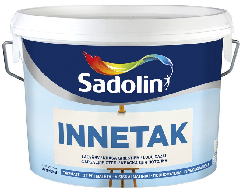 Krāsa Innetak 10l emulsijas griestu balta (Sadolin)