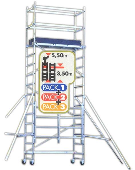 Pastolinės kopėčios Tubesca Speedy Pack 3, 3.5 m