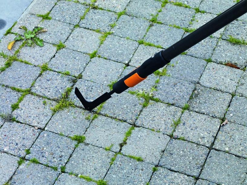 Žolės grandiklis Fiskars QuikFit Patio, be koto