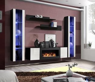 ASM Fly M2 Living Room Wall Unit Set White/Black