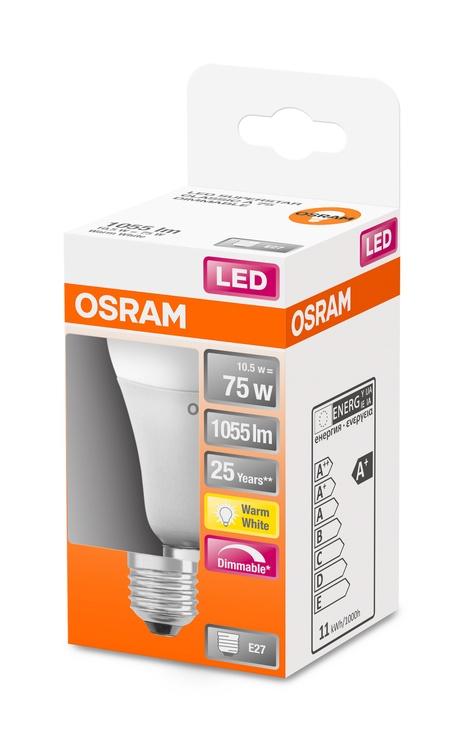 LAMPA LED A60 10.5W E27 827 1055LM DIM