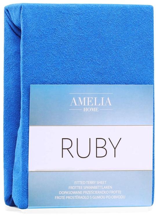 Palags AmeliaHome Ruby, zila, 140x200 cm, ar gumiju