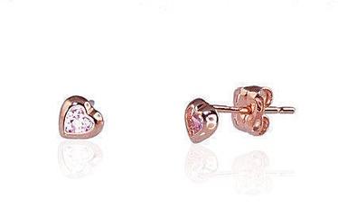 Diamond Sky 14K Red Gold Earrings Amor III Solid Gold 585