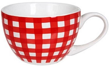 Banquet Jumbo Checkered Red Mug 400ml