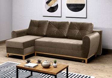Stūra dīvāns Idzczak Meble Provo Brown, 249 x 143 x 97 cm