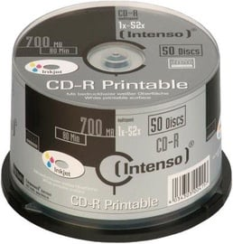 Intenso CD-R Printable 52x 700MB 50pcs Cake Box 1801625