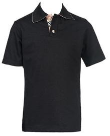 Bars Mens Polo Shirt Black 22 152cm