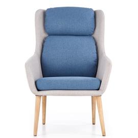 Fotelis Purio, pilkas/mėlynas