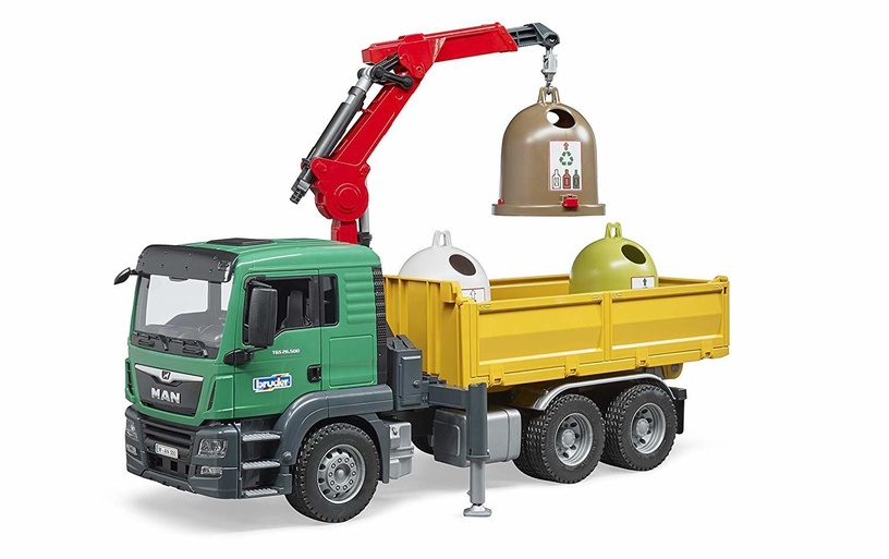 Bruder Man TGS Truck With Load Crane 3753