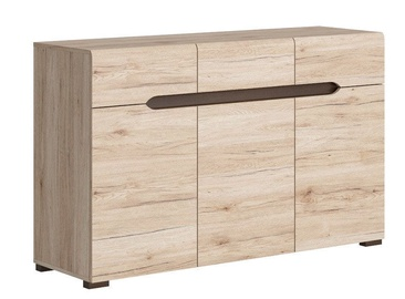 Komoda Black Red White Elpasso 41x135cm San Remo Oak