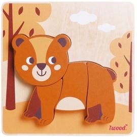 Puzle Iwood Wooden Animal Bear, 4 gab.