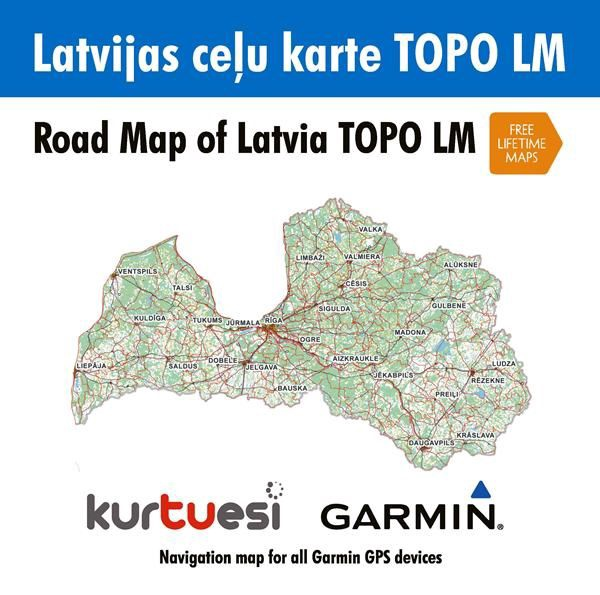 Garmin Road Map of Latvia TOPO LM