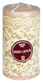 Diana Candles Pillar Candle 6x12cm Beige