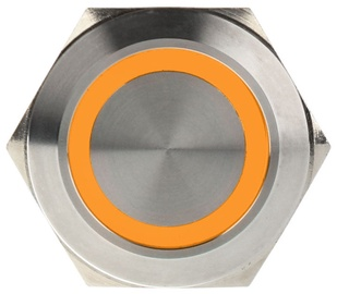 DimasTech Switch Push Button 25mm Silverline Orange