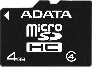 A-Data 4GB MicroSD Class 4 + Adapter