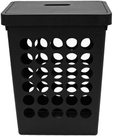 Plast Team Springfield Laundry Basket Rectangular Black 45L